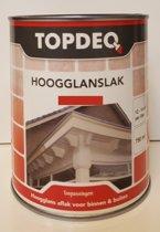 Topdeq Hoogglansverf - Verf - Hoogglans - Zwart - 750ml