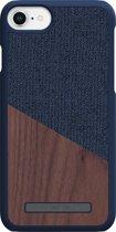 Nordic Elements Frejr backcover voor Apple iPhone 6/7/8 -  Walnoot hout / donkerblauw textiel