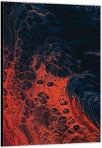 Dibond –Lava– 100x200cm Foto op Aluminium (Wanddecoratie van metaal)
