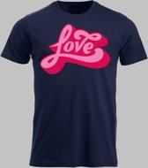 T-shirt M Love - Darknavy - M - XXXXL Sportshirt