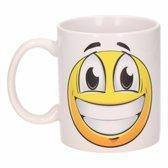 Vrolijke smiley mok 300 ml - emoticon beker