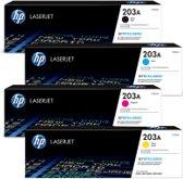 HP 203A Rainbowkit (CMYK) CF543A, CF542A, CF541A, CF540A