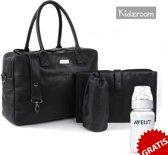 Kidzroom Care Joy Verzorgingstas Luiertas - Zwart + Gratis Philips Avent Classic+