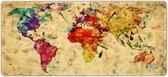 Muismat gaming wereldkaart classic 90 x 40 cm - Sleevy