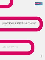Manufacturing Operations Strategy