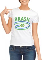 Wit dames t-shirt Brazilie XL
