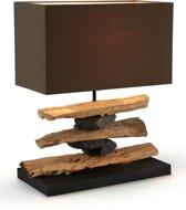 LaForma Tafellamp Clayton - Tropisch Hout