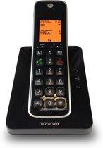 Motorola CD201 Uitgebreide Senioren Single Set - NL - DECT Telefoon met Handsfree en Display Verlichting - HAC -Zwart