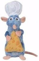 Disney pluche rat knuffel Remy Ratatouille met kaasje 25 cm