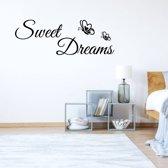 Muursticker Sweet Dreams -  Geel -  120 x 42 cm  - Muursticker4Sale