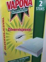 Vapona zilvervis val 2 verpakkingen van 2 stuks
