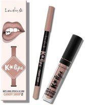 Lovely K-Lips Matte Liquid Lipstick & Lip liner Candy Shop