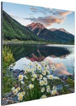 Crystal Lake Amerika Aluminium 60x90 cm - Foto print op Aluminium (metaal wanddecoratie)