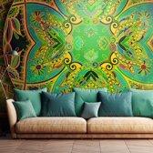 Fotobehang - Mandala: Groene Fantasie