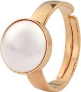 ARLIZI 0964 Ring Parel - Dames - 925 Zilver Roséverguld - 10 mm - Wit