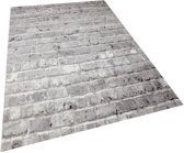 Vloerkleed - 2500 gr per m² - Tibet - Grijs - 5162 - 120x170 cm