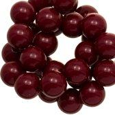 Acryl Kralen (16 mm) Cherry (45 stuks)