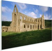 Zijaanzicht van de Tintern Abbey in Wales Plexiglas 90x60 cm - Foto print op Glas (Plexiglas wanddecoratie)