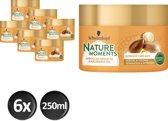 Schwarzkopf Nature Moments Argan Oil & Macadamia Oil Haarmasker - 250 ml  - 6 stuks - Voordeelverpakking
