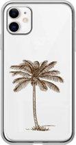 Apple Iphone 11 Transparant siliconen telefoonhoesje palmboom