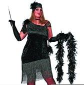 Charleston jurk zwart (grote maten) Maat 48