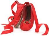 babyslofjes ballerina red metallic Maat: L (142 cm)