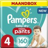 Pampers Baby-Dry Pants - Maat 4 (Maxi) 9-15 kg - Maandbox 160 Stuks - Luierbroekjes