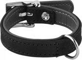Adori Halsband Nubuck Zwart&Grijs - Hondenhalsband - 14mmx25 cm