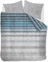 Beddinghouse Jarno - Dekbedovertrek - Flanel - Lits-jumeaux - 240x200/220 cm - Blauw