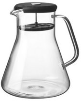 Qdo Theepot - 1 l - Zwart - Glas