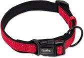 Nobby halsband classic reflect soft verstelbaar rood 40-55 x 2,5 cm - 1 ST