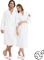 Nightlife - Unisex Sauna Badjas - Wit - S/M