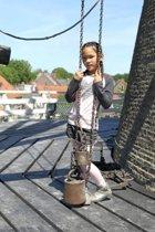 Birds by D-RAK-meisjes-legging-kleur: roze-maat 98