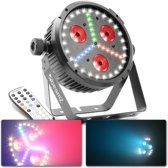 BeamZ BX30 3-in-1 LED lichteffect met LED par, stroboscoop en blacklight in één behuizing