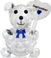 Kristalglas beer geboorte maand september