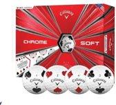 Callaway Chrome Soft Truvis ballen (dozijn) - Suits (1 x 3-ball sleeve of each suit per dozen)