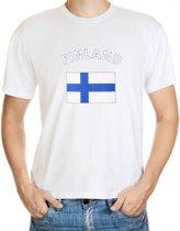 Finland t-shirt met vlag 2xl