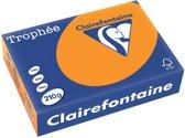 Clairefontaine Trophée Intens A4 fel oranje 210 g 250 vel