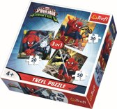 Puzzles - 3in1 - Spiderman's world/ Disney Marvel Spiderman Legpuzzel