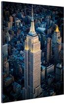 Empire State Building Manhattan NY Aluminium 20x30 cm - Foto print op Aluminium (metaal wanddecoratie)