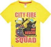 Lego City Jongens T-shirt - geel - Maat 116