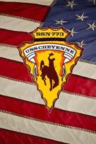 US Navy Submarine USS Cheyenne (SSN 773) Crest Badge Journal