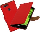 BestCases.nl Huawei nova 2 Effen booktype hoesje Rood