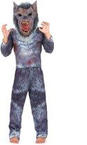 Eng grijs weerwolf kostuum met masker voor kinderen - Verkleedkleding