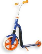 Scoot & Ride | Highway Gangster | Step en Loopfiets in één | Wit/Blauw/Oranje