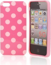 Silicon Hoesje voor iPhone 5 Light Pink Love