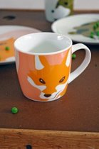 THE ZOO -   MUG Fox, keramieke mok, oranje, L 12x W8,6 x H 8,6, 250ml