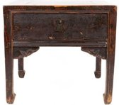 Fine Asianliving Antique Chinese Small Table Handcrafted Designed Brown