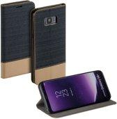 Denim Samsung Galaxy S8 Plus booktype hoesje blauw