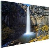 Svartifoss waterval in IJsland Glas 120x80 cm - Foto print op Glas (Plexiglas wanddecoratie)